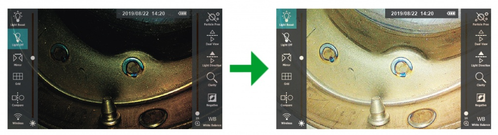 jProbe PX pro Light Boost турборежим подсветки