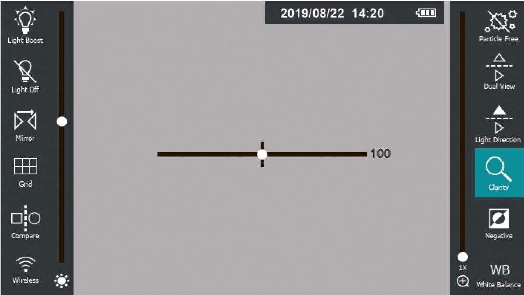 jProbe PX pro Clarity регулировка резкости изображения