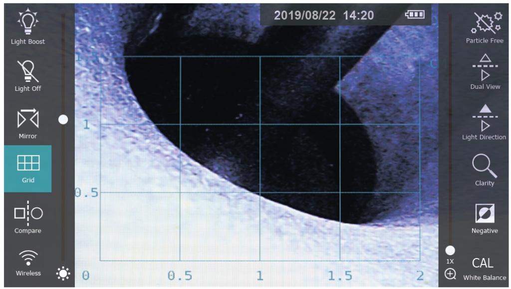 jProbe PX Grid отображение измерительной сетки