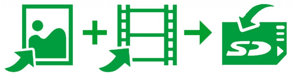 Запись фото и видео изображения на карту памяти SD jProbe