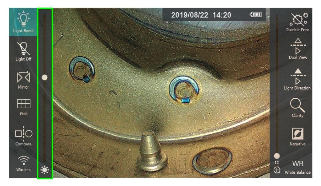 jProbe PX pro тумблер регулировки уровня интенсивности подсветки