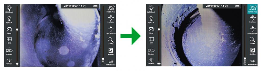 jProbe PX pro Particle Free компенсация пылевых бликов при использовании адаптеров бокового обзора (функционал Hyperion)